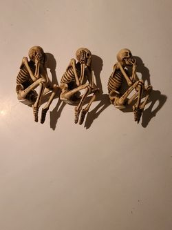 Hear/speak/see No Evil Porcelain Skeleton Figures for Sale in Saint Charles,  MO