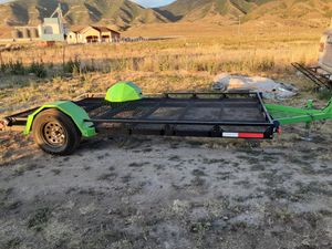 2019 14' utv/side by side or quad flat bed toy hauler for Sale in Tooele, UT