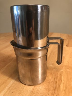 Vintage rare ilsa stainless steel 2 cups neapolitan coffee maker for Sale in Lake Worth, FL