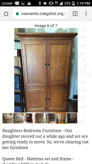 Armoire solid wood for Sale in OR, US