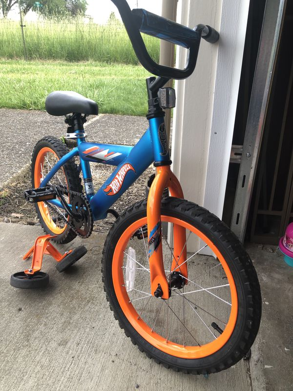 16 inch. Hot Wheels bike