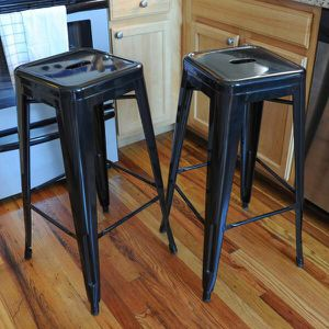 Black bar stools (set of 4) for Sale in Brooklyn, NY