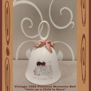 """VINTAGE 1988 PRECIOUS MOMENTS BELL """"UNTO US A CHILD IS BORN"""" for Sale in Ontario, CA"""