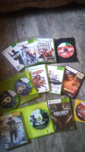 Xbox 360 games $15 for all 12 for Sale in Moreno Valley, CA