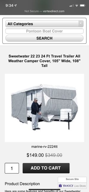 Trailer All Weather Camper Cover, 22-24 Ft. for Sale in Turlock, CA