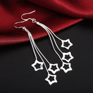 925 Sterling silver plated Tall Earrings Beautiful Fashion Silver 925 Earrings Jewelry Charms Star for women girl Earrings for Sale in Queens, NY