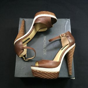 Rachel Zoe Bardot Heels Chocolate Brown size 9 - Worn only in photo shoots for Sale in Dallas, TX