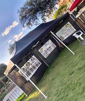 FOR SALE HEAVY DUTY POP UP CANOPY TENT 10x20ft with Side Walls in BLUE, BLACK and White for Sale in Chino, CA