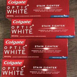 Colgate optic white fresh mint gel toothpaste $2 each for Sale in San Bernardino, CA