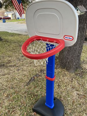Little tikes Kids child basketball goal Portable Basketball Stand Set Goal Kids Hoop Toy Indoor Outdoor for Sale in San Antonio, TX