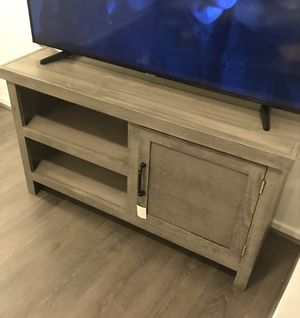 Grey Media Console TV Stand for Sale in Arlington, VA