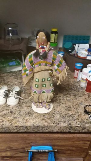 Old leather Indian doll for Sale in Avon Park, FL