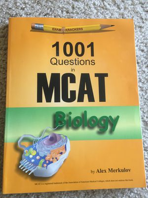 MCAT 1001 questions in biology (exam krackers 2016) for Sale in Washington, DC