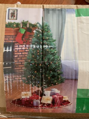 6 Foot Pre-Lit Multi Valley Pine Christmas Tree for Sale in Romeoville, IL