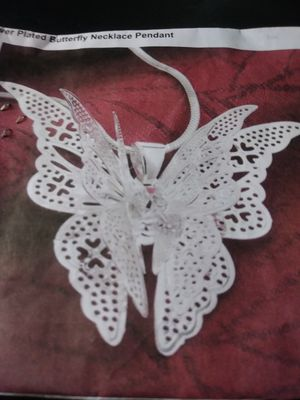 Silver Plated Butterfly Necklace for Sale in Louisville, KY