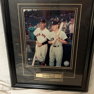 Mickey Mantle & Ted Williams framed Photo for Sale in Valley Mills, TX