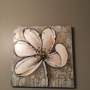 Canvas flower painting 24X24 for Sale in Sioux Falls, SD
