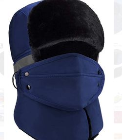 Anazalea Winter Hats for Men and Women Trapper Hunting Hat Russian Hat with Ear Flaps Windproof Ushanka Hat (Navy Blue) for Sale in Rancho Cucamonga,  CA