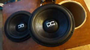 "Dc audio 15"" 4400w each 2 ohms for Sale in Grand Prairie, TX"
