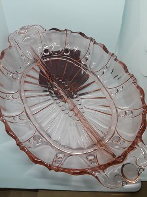 Antique Pink Depression Glass Relish Dish for Sale in Dittmer, MO