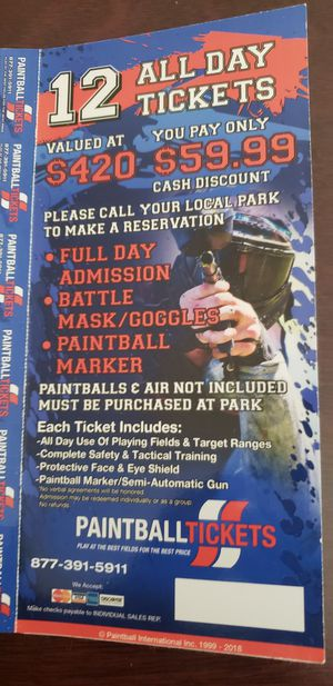 Paintball Tickets for Sale in Renton, WA
