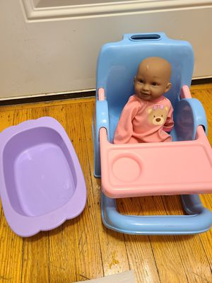 Baby Doll w/ carrier seat & bath tub for Sale in Philadelphia, PA
