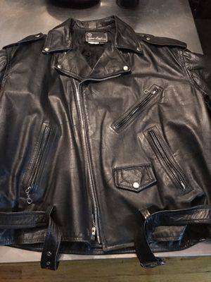 Motorcycle MC Leather Jacket Size XLT to XXL for Sale in Queens, NY