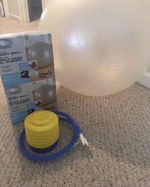 Exercise body ball with pump for Sale in Smyrna, TN