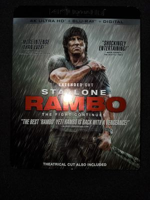 *NEW* Rambo: The Fight Continues (2008) 4K UHD/HDR Bluray for Sale in Spring, TX