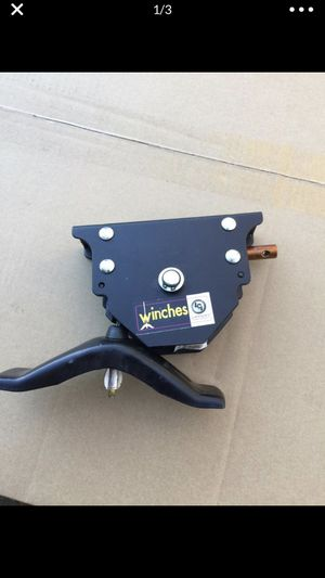 Lippert spare tire winch with offset cable for Sale in Lenexa, KS