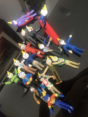 Vintage Collectible Jack In the Box Bendie Bendable Toy Figure Lot of 16 for Sale in San Diego, CA