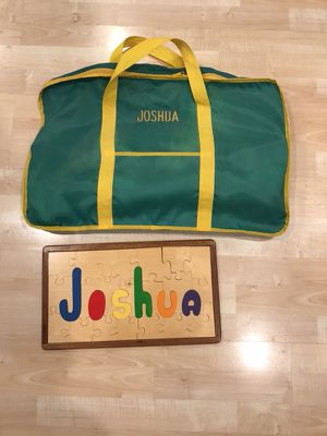 "Personalized ""Joshua"" puzzle and golf game for Sale in Raleigh, NC"