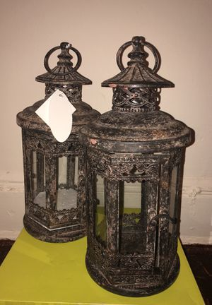 BRAND NEW - Antique metal glass lantern for Sale in Queens, NY