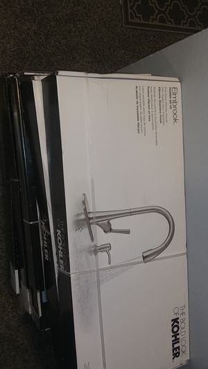 Kohler & Delta pull down kitchen faucets . ( Models Arsdale/Elmbrook /Barossa/Rubicon/Setra/Marcs/Charmaine $100 each) for Sale in Westminster, CO