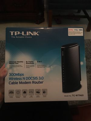 TP Link 300 Mbps Wireless Cable Modem Router for Sale in Dunedin, FL