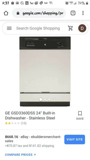 GE stainless steel dishwasher for Sale in Denver, CO