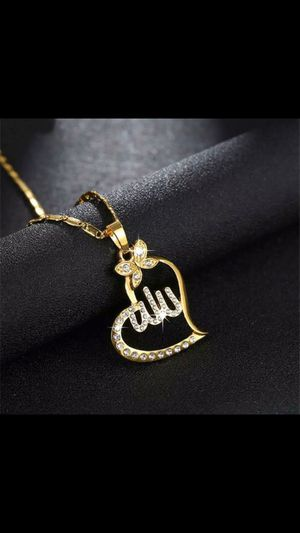 18k Gold Filled Muslim Islamic God Allah Charm Pendant Necklace for Sale in Kent, WA