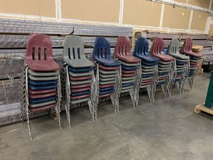 Virco stackable, interlocking chairs - assorted colors for Sale in Richardson, TX