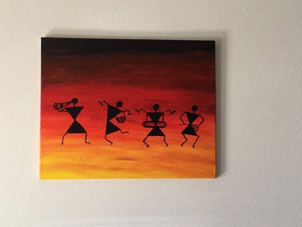 Acrylic paint on canvas board