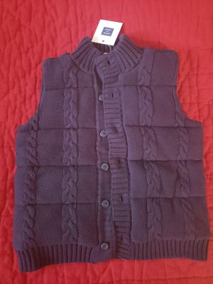 New janie and jack 3 to 4 years toddler boys navy dark blue buttoned sleeveless sweater for Sale in Falls Church, VA