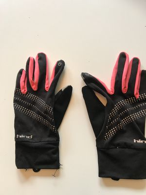Like new black and pink hind-brand women's bike gloves for Sale in Portland, OR