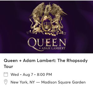 2 tickets to see Queen for Sale in New York, NY