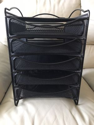 Mesh Desk Organizer with 5-Tier Drawers for Sale in Bethesda, MD