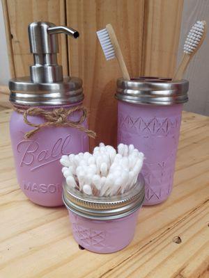 *Handmade* Mason Jar Bathroom Set for Sale in Sumner, WA