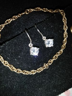 925 silver drop earrings for Sale in Columbus, OH