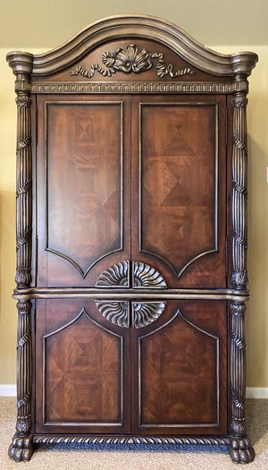 Beautiful and Ornate Armoire/TV Cabinet for Sale in Lexington, MA