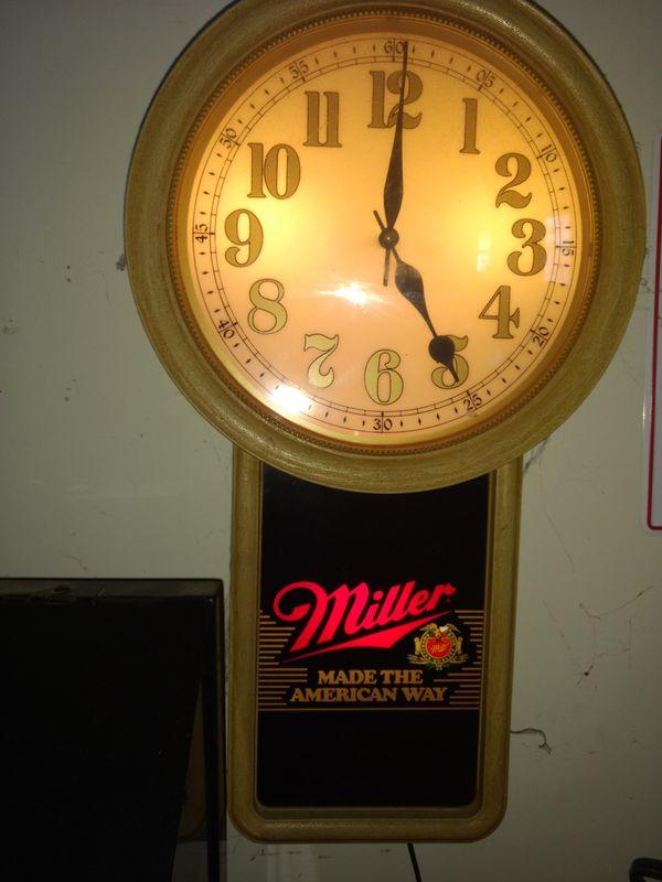 Antique Miller beer clock