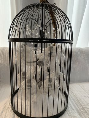 """New! Huge Beautiful 10 light """" Bird Cage Style """" Hanging Chandelier w/BLING! Measurements are in pictures for Sale in Moreno Valley, CA"""