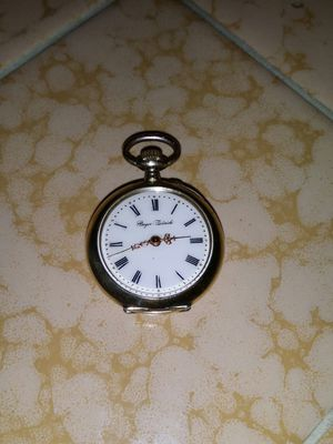 Solid silver pocket watch smaller size running marked stamped and signed for Sale in Clovis, CA