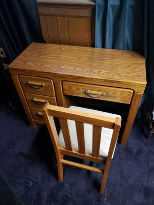 Hardwood desk and chair for Sale in Hampton, VA